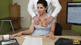 LOAN4K. Unassisted fucking tuchis help chick get a loan for massage
