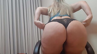 Marcia exhibitionism with blue lingerie
