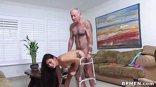 Kinky grey man licks added to fucks spectacular Michelle Martinez