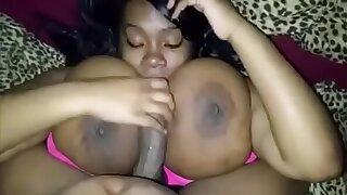 Mz Sucktion titty fuck scene