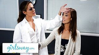 Girlsway Hot Teacher Gets Checked Up By Put emphasize School's Doctor