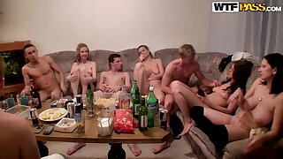 sex party 03 - group drink orgy