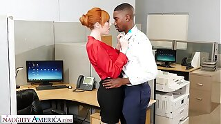 Naughty America - New guy at work gets unintended with the bosses slutty join in matrimony