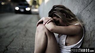 Homeless Teen Virgin Meets Hung Rich Benefactor – Creampie