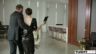 TUSHY, Shy Avery seduces & has anal hither the brush longtime crush