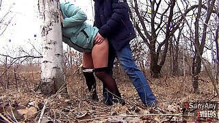 Good sex outdoors with a married hot spliced in pantyhose for $ 40 and a mouthful of sperm [XSanyAny]