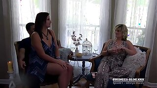 Couples swapping partners and sucking cock in amateur swinger video