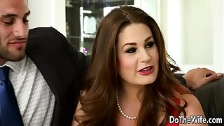 Sexy Swinger Allision Moore Is Fucked by a Pounding Dicked Guy While Possibility Couple