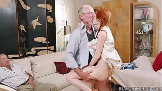 Pigtailed Redhead Teen Fucked by 75 Genre Old