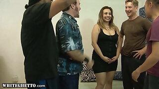Hot BBW Girl Gets DP Gangbanged Helter-skelter Her Bisexual BFF